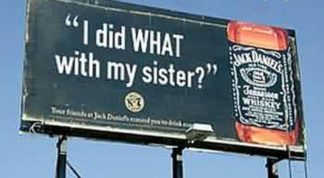 jack daniels funny sign - View funny advertising photos
